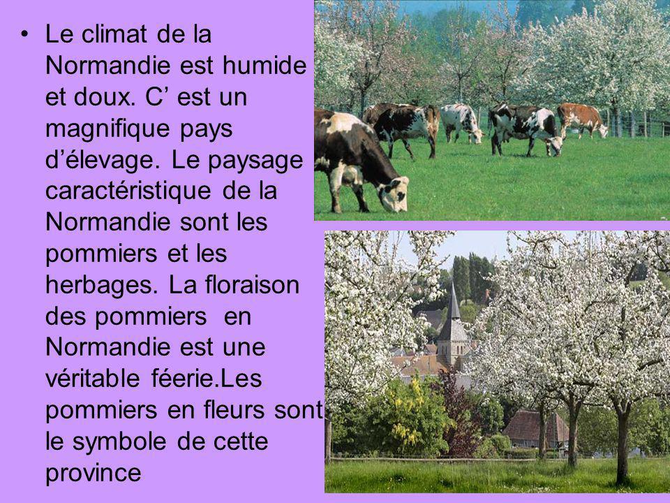 Le climat de la Normandie est humide et doux