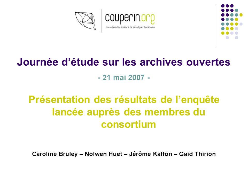 Journée d'étude sur les archives ouvertes