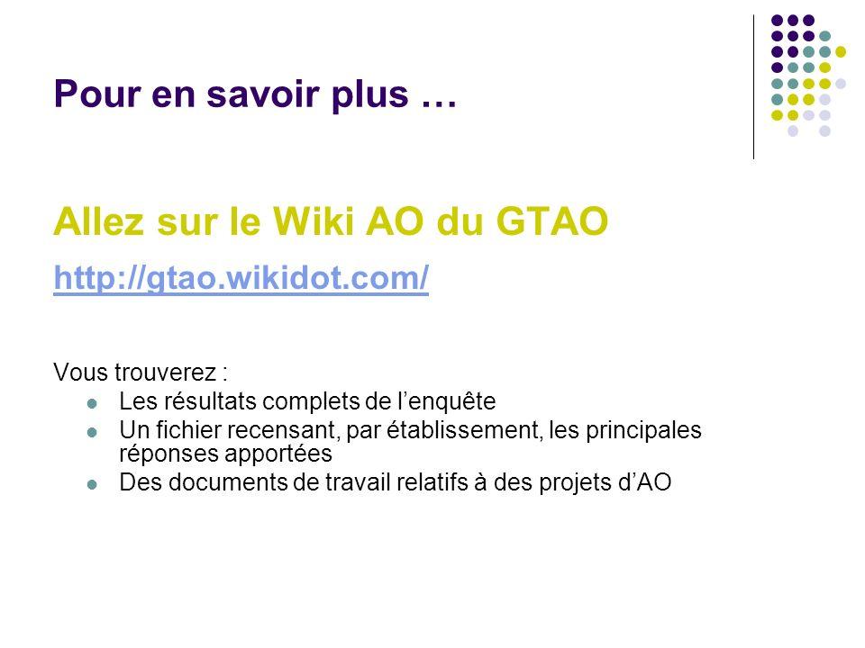Allez sur le Wiki AO du GTAO