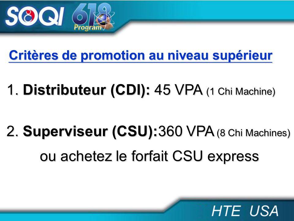 Distributeur (CDI): 45 VPA (1 Chi Machine)
