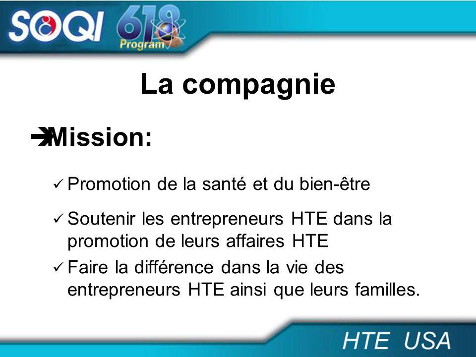 La compagnie Mission: Promotion de la santé et du bien-être
