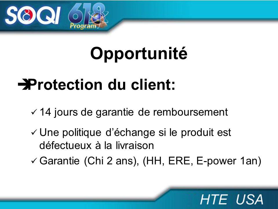 Opportunité Protection du client: