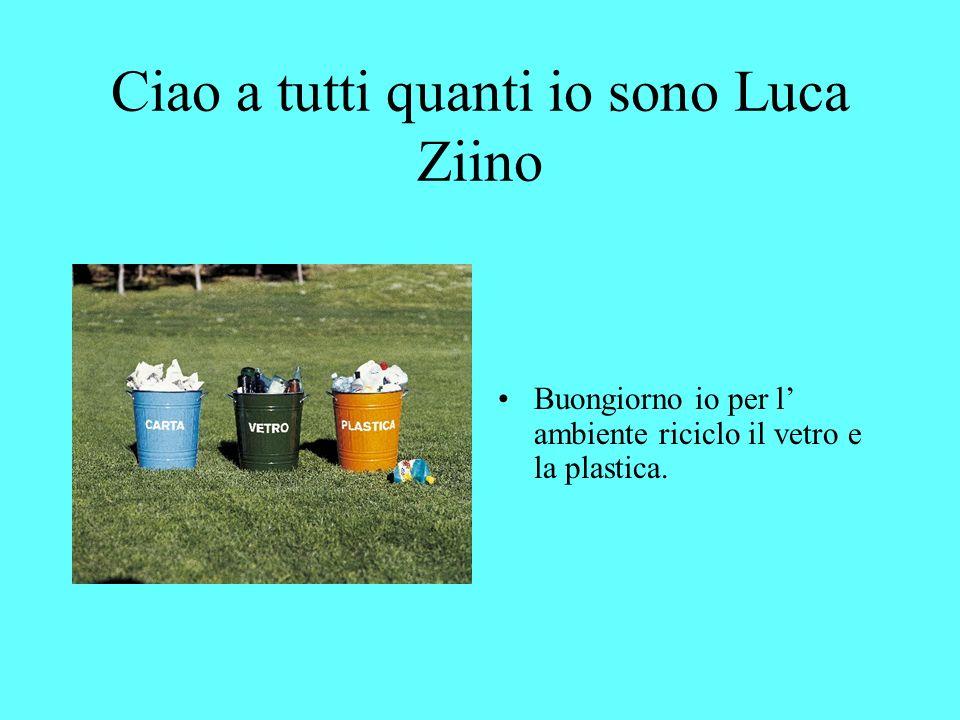 Ciao a tutti quanti io sono Luca Ziino