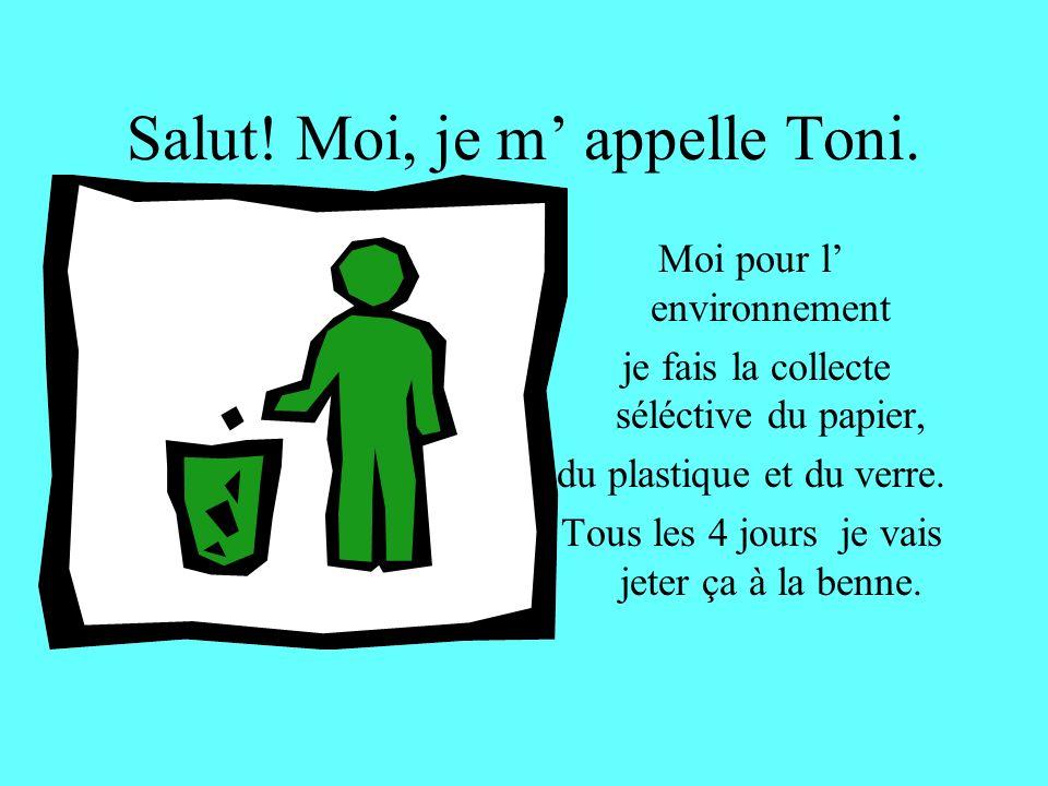 Salut! Moi, je m' appelle Toni.