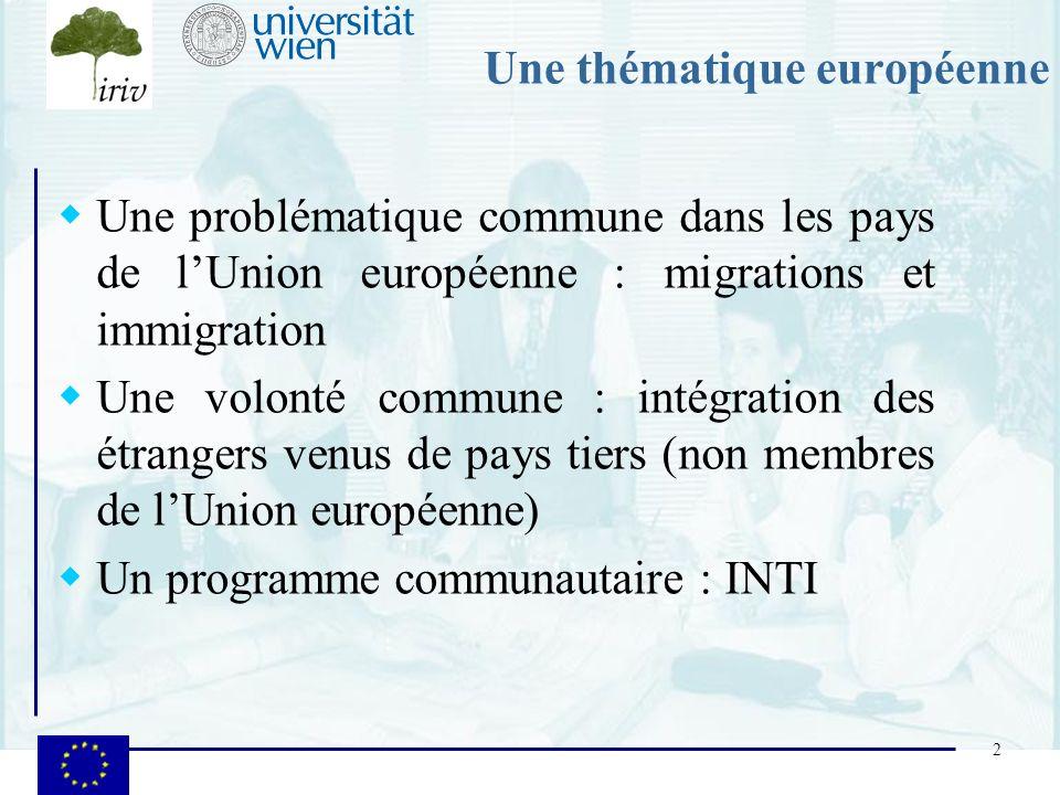 Une thématique européenne