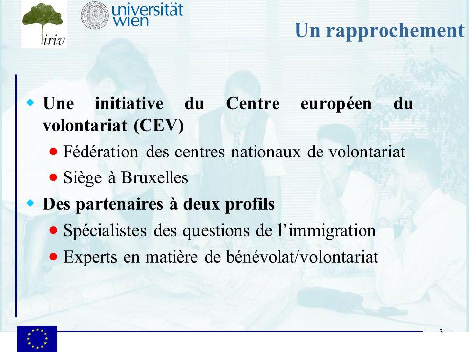 Un rapprochement Une initiative du Centre européen du volontariat (CEV) Fédération des centres nationaux de volontariat.