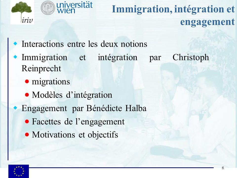 Immigration, intégration et engagement