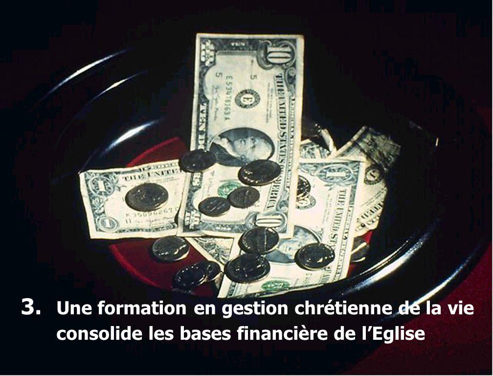 3. Une formation en gestion chrétienne de la vie consolide les bases financière de l'Eglise