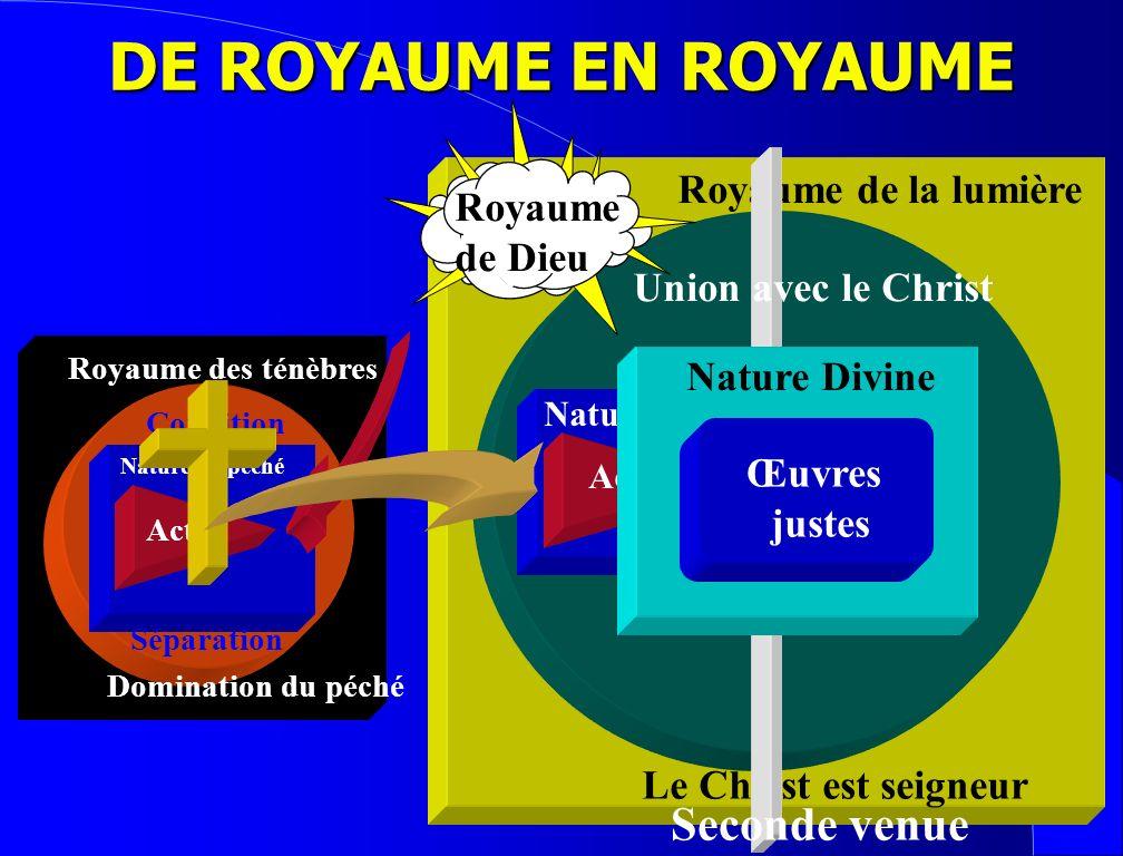 DE ROYAUME EN ROYAUME Seconde venue Royaume de la lumière Royaume