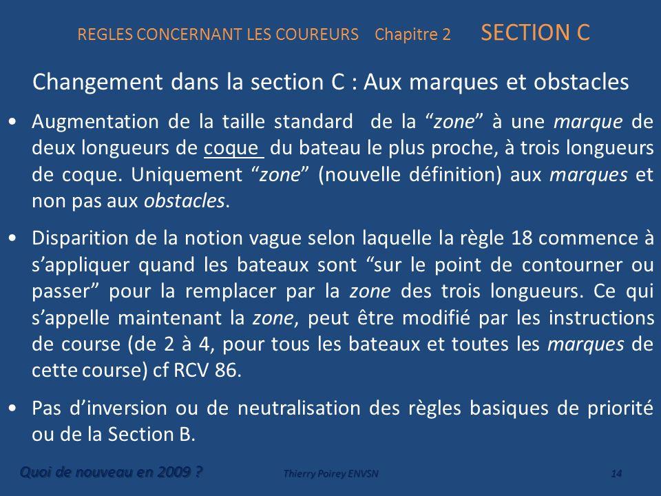 REGLES CONCERNANT LES COUREURS Chapitre 2 SECTION C
