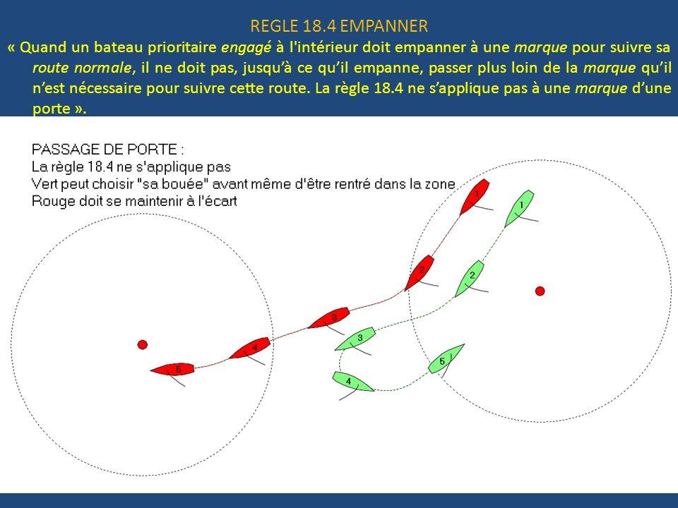 REGLE 18.4 EMPANNER