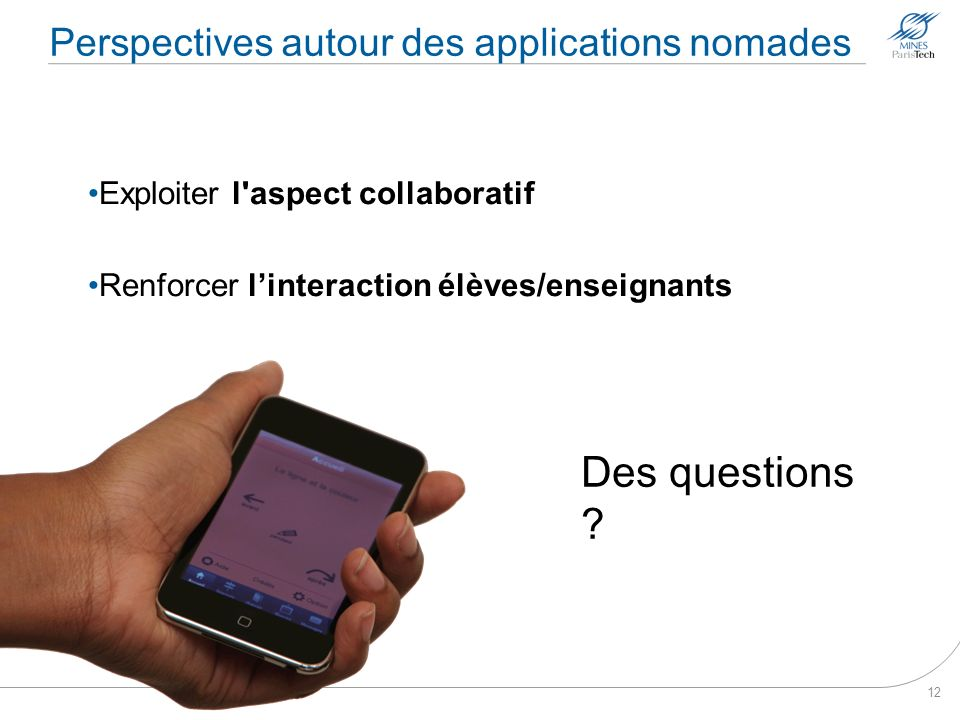 Perspectives autour des applications nomades
