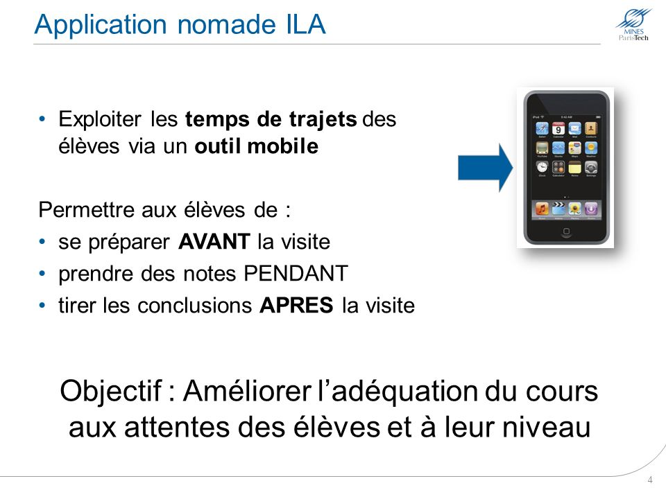 Application nomade ILA