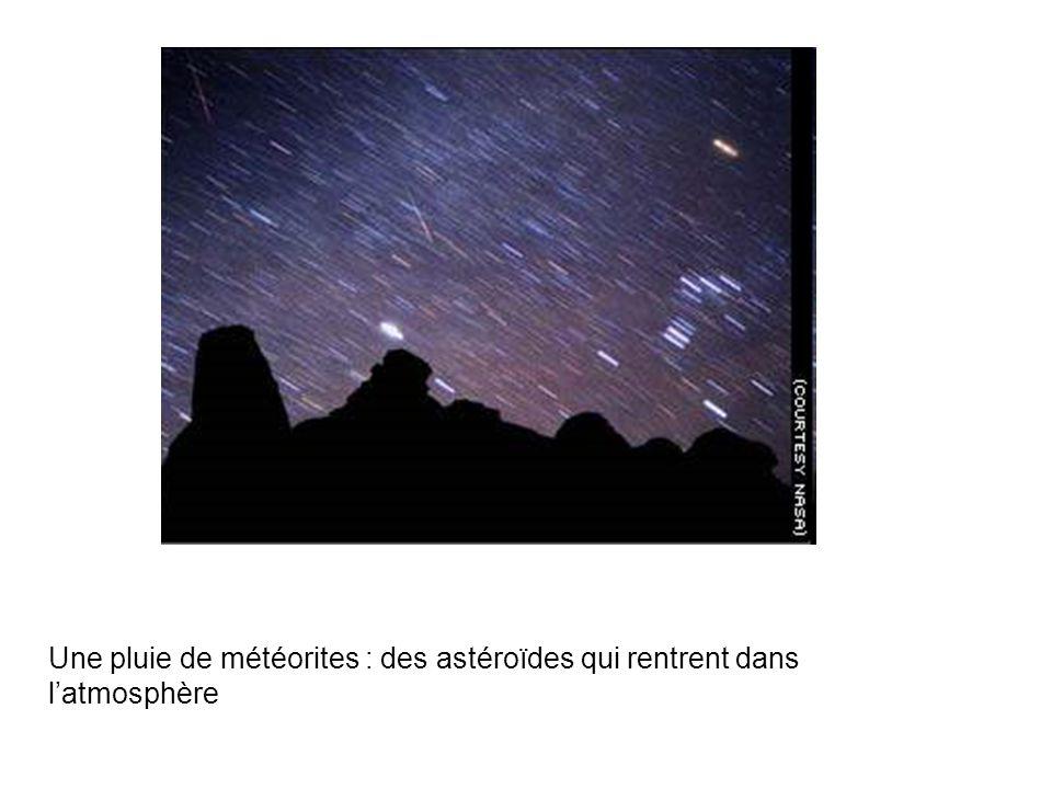 Une pluie de météorites : des astéroïdes qui rentrent dans l'atmosphère