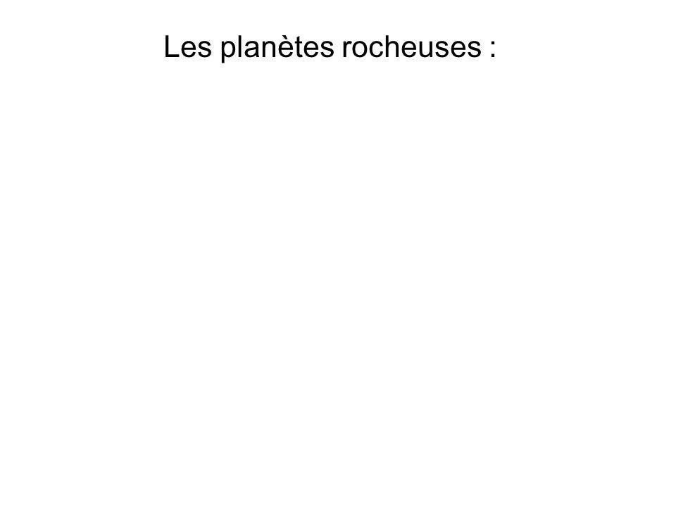 Les planètes rocheuses :