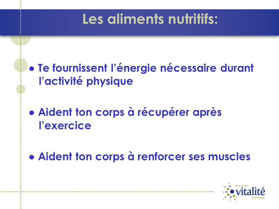 Les aliments nutritifs:
