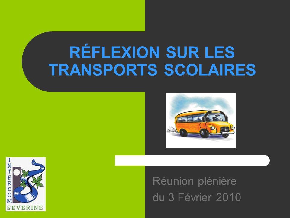 RÉFLEXION SUR LES TRANSPORTS SCOLAIRES