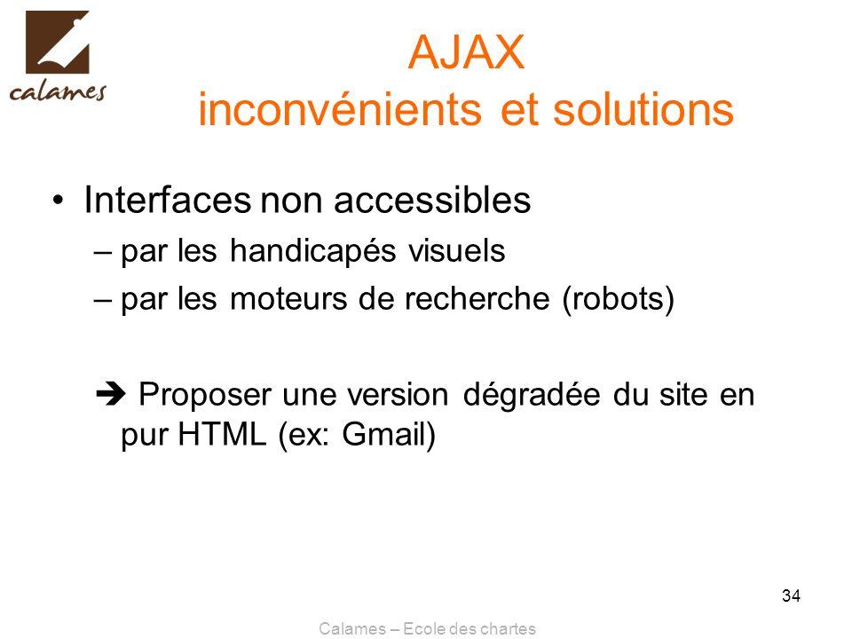AJAX inconvénients et solutions
