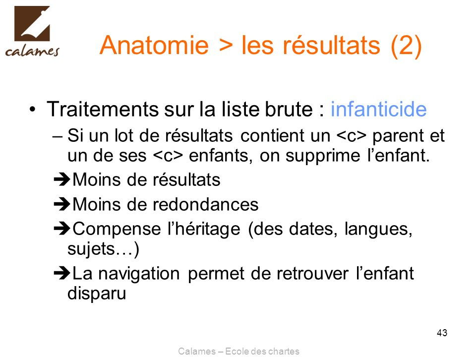 Anatomie > les résultats (2)