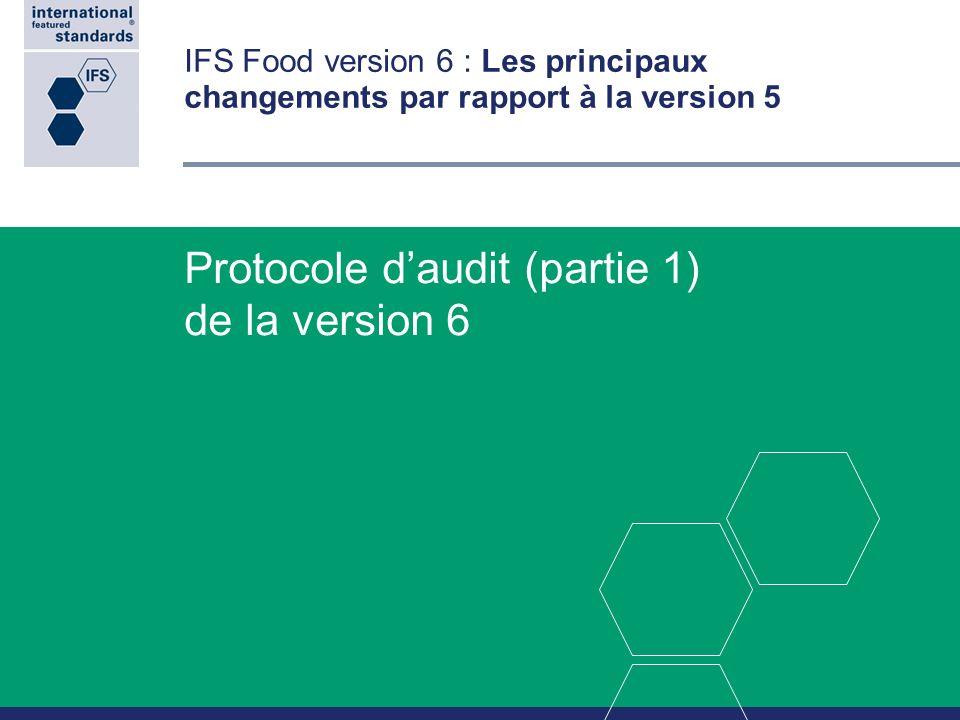 Protocole d'audit (partie 1) de la version 6