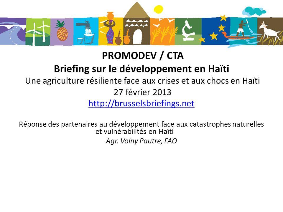 Briefing sur le développement en Haïti