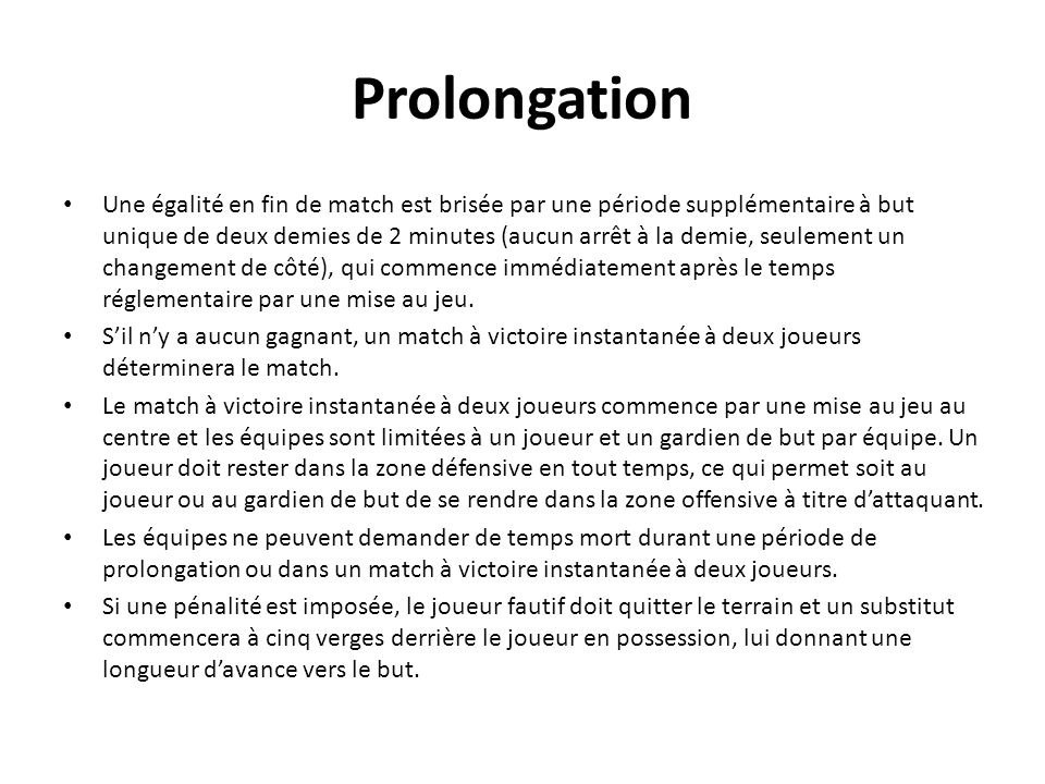 Prolongation