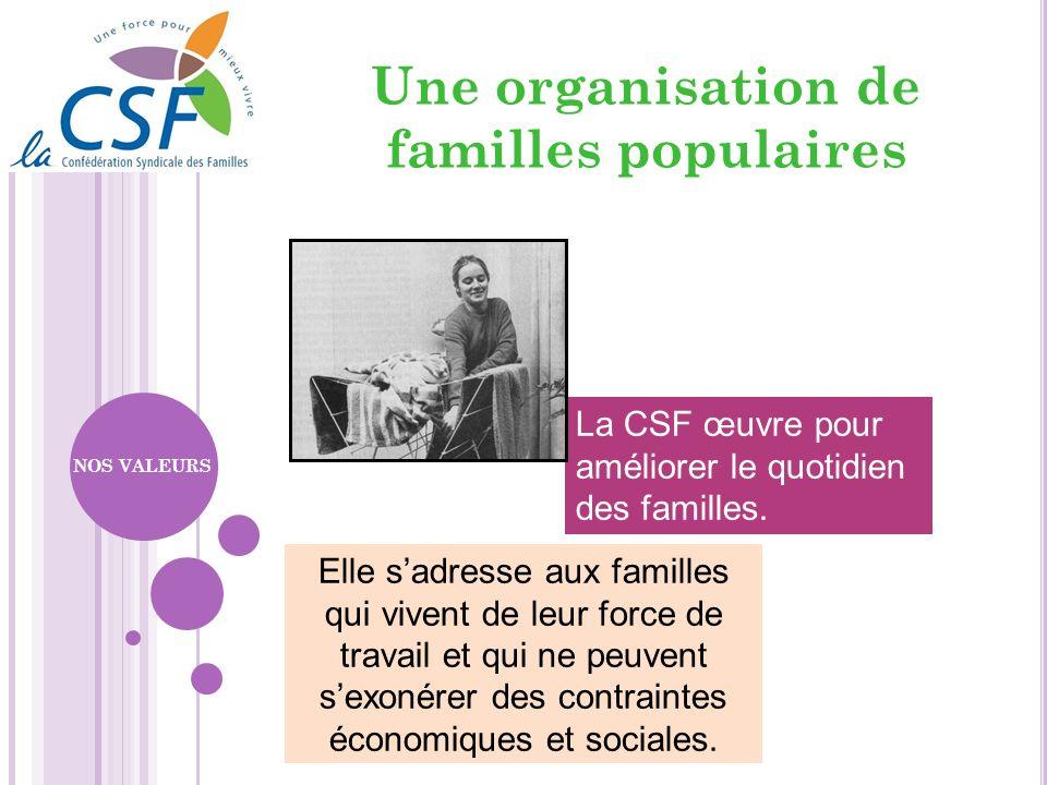 Une organisation de familles populaires