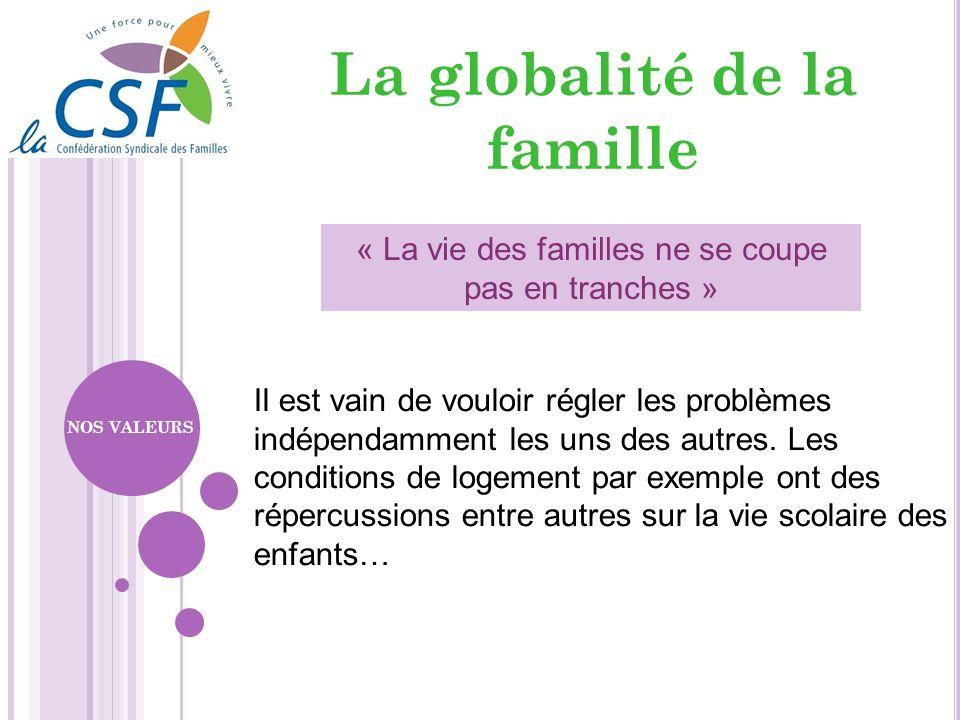 La globalité de la famille