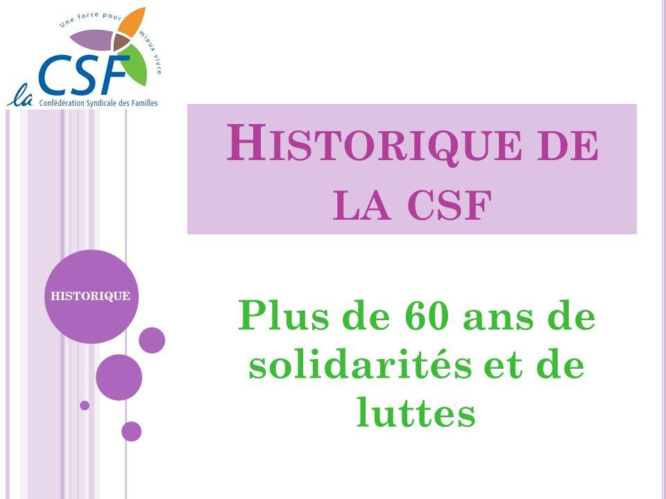 Plus de 60 ans de solidarités et de luttes