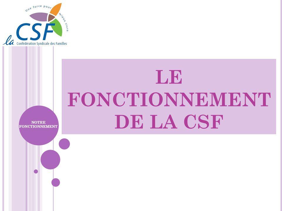 LE FONCTIONNEMENT DE LA CSF