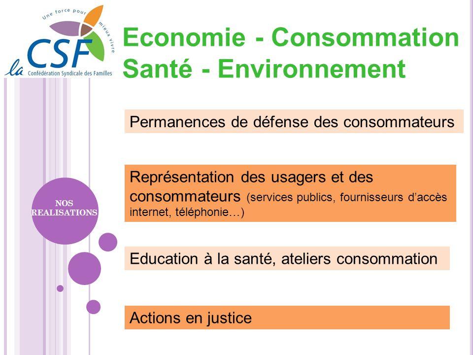 Economie - Consommation Santé - Environnement