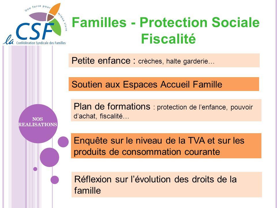 Familles - Protection Sociale Fiscalité