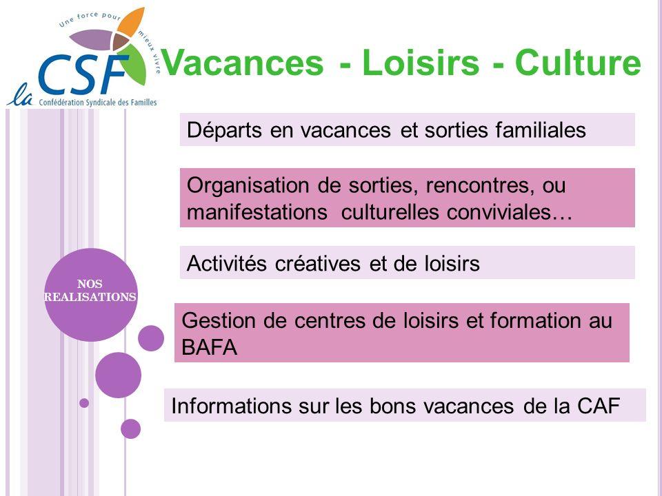 Vacances - Loisirs - Culture