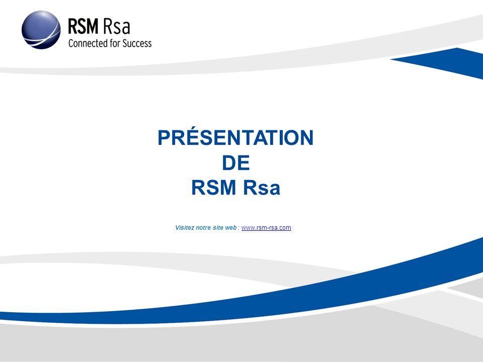 PRÉSENTATION DE RSM Rsa