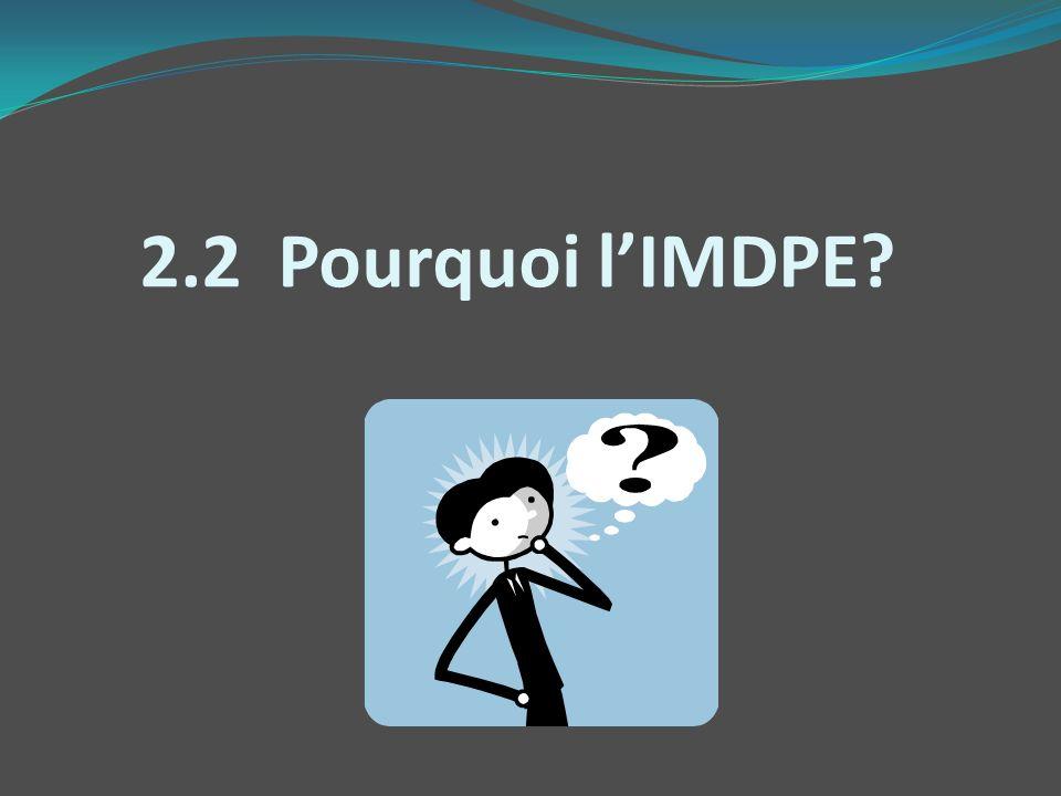 2.2 Pourquoi l'IMDPE EN ANGLAIS EDI = Early Development Instrument
