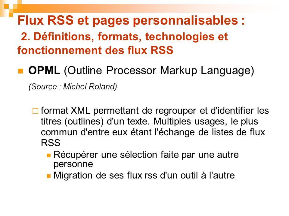 Flux RSS et pages personnalisables : 2