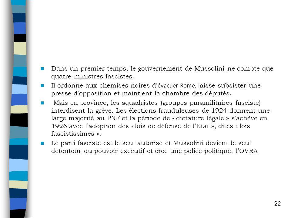D mocratie vs fascisme ppt video online t l charger for Dans un premier temps