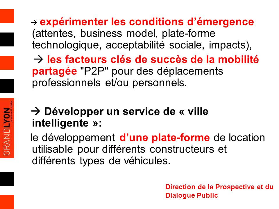 Développer un service de « ville intelligente »: