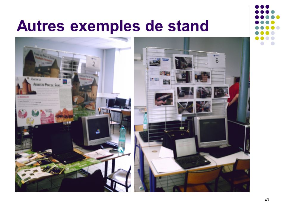 R union d informations jeudi 6 d cembre ppt t l charger for Exemple de stand