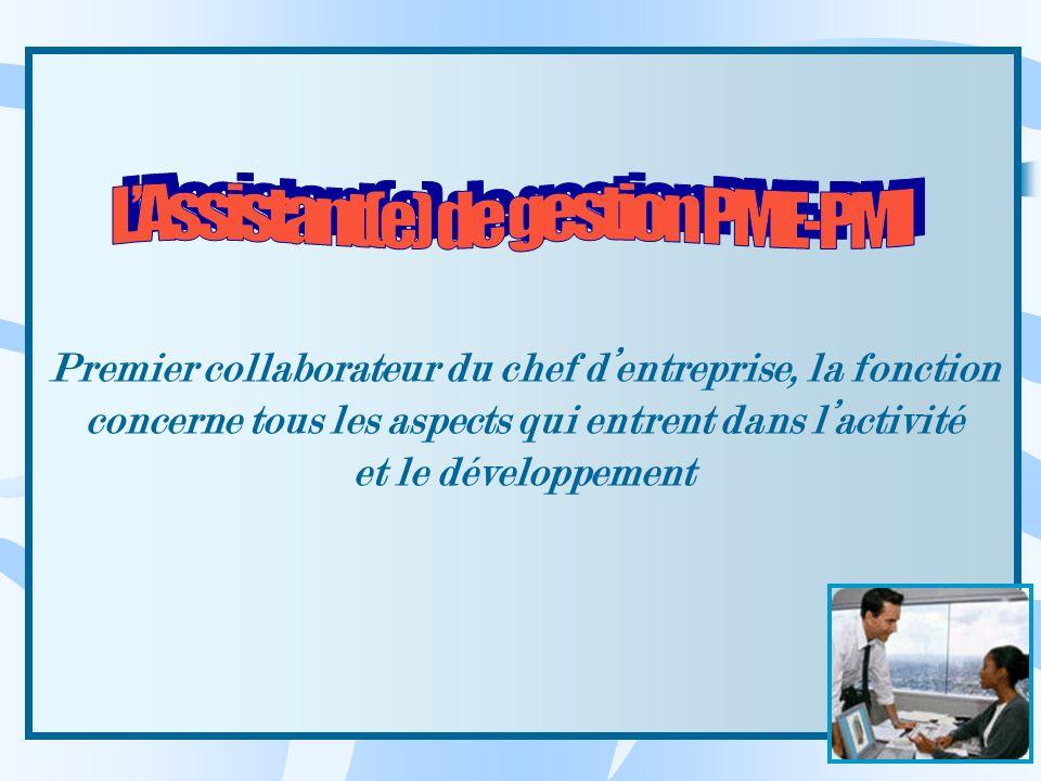 L'Assistant(e) de gestion PME-PMI