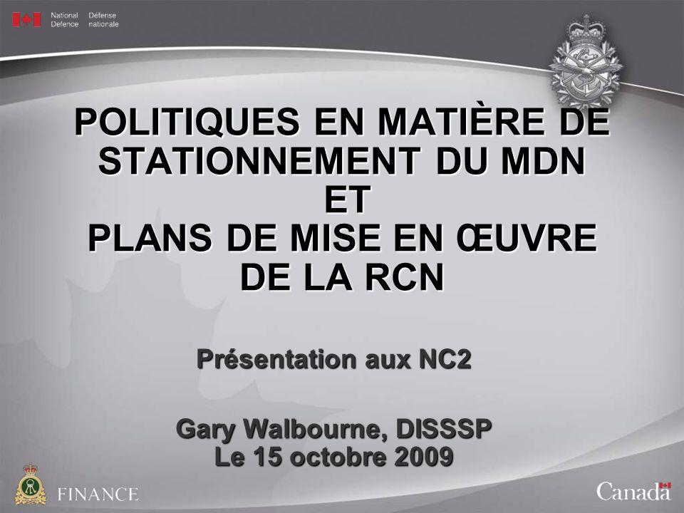 Présentation aux NC2 Gary Walbourne, DISSSP Le 15 octobre 2009