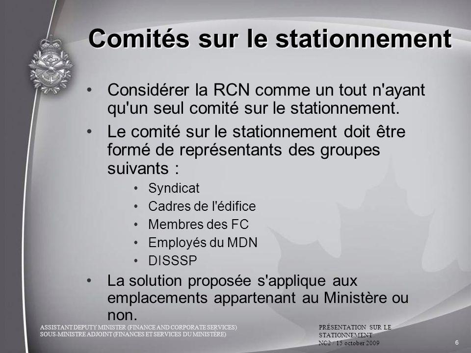 Comités sur le stationnement