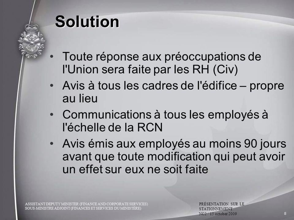 22/03/2017 9:23:28 PM Solution. Toute réponse aux préoccupations de l Union sera faite par les RH (Civ)