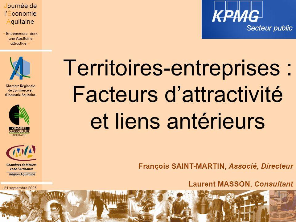Territoires-entreprises : Facteurs d'attractivité et liens antérieurs