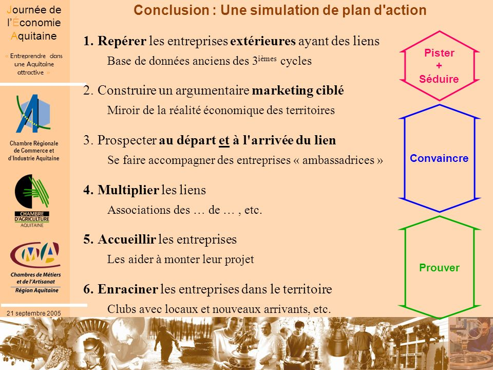 Conclusion : Une simulation de plan d action