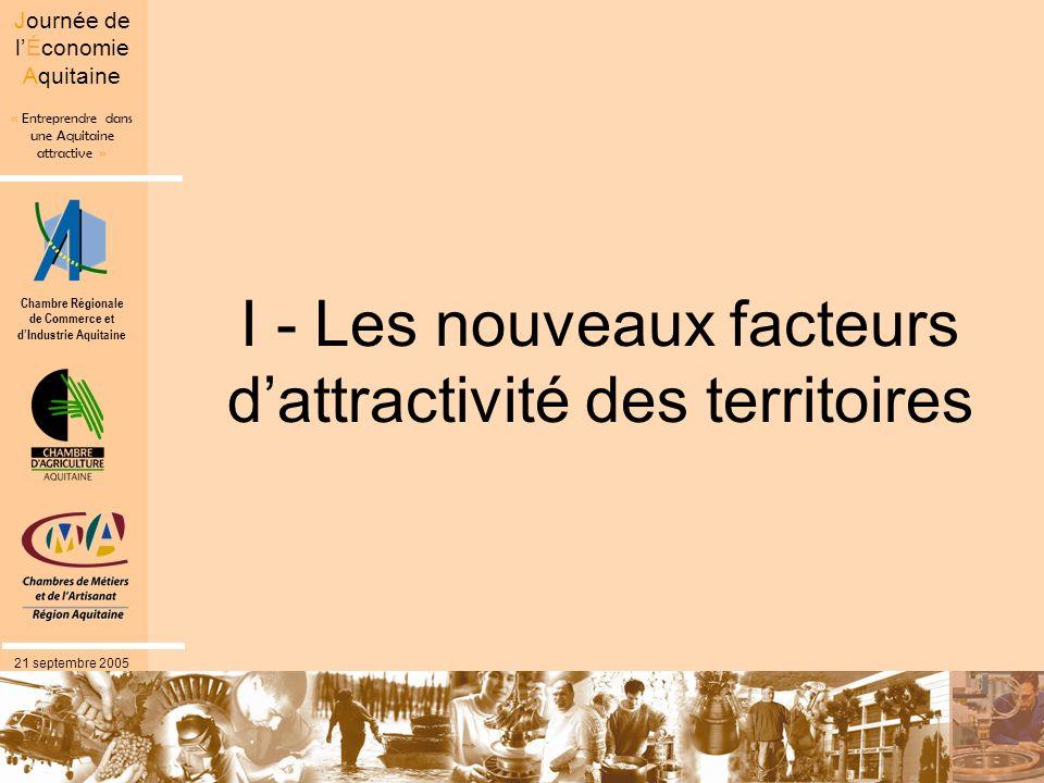 I - Les nouveaux facteurs d'attractivité des territoires