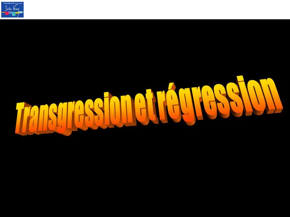 Transgression et régression
