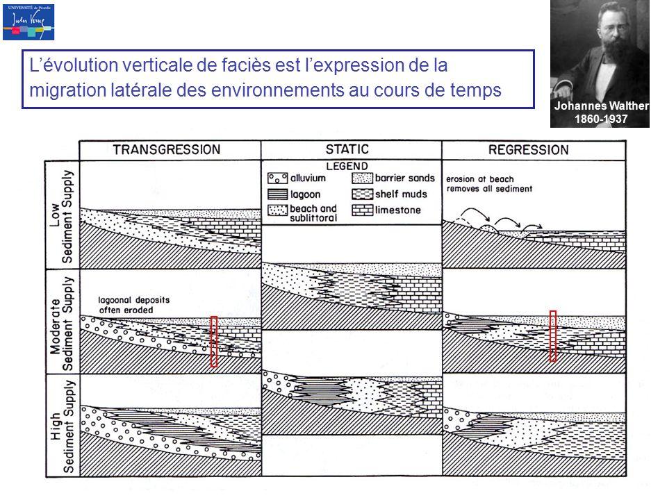 L'évolution verticale de faciès est l'expression de la migration latérale des environnements au cours de temps