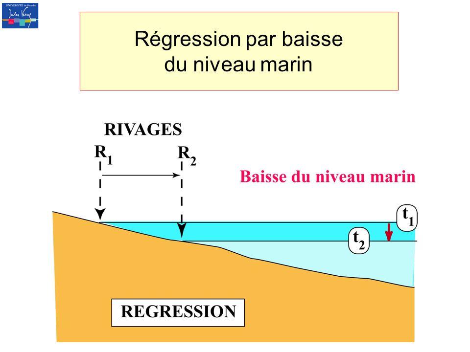 Régression par baisse du niveau marin
