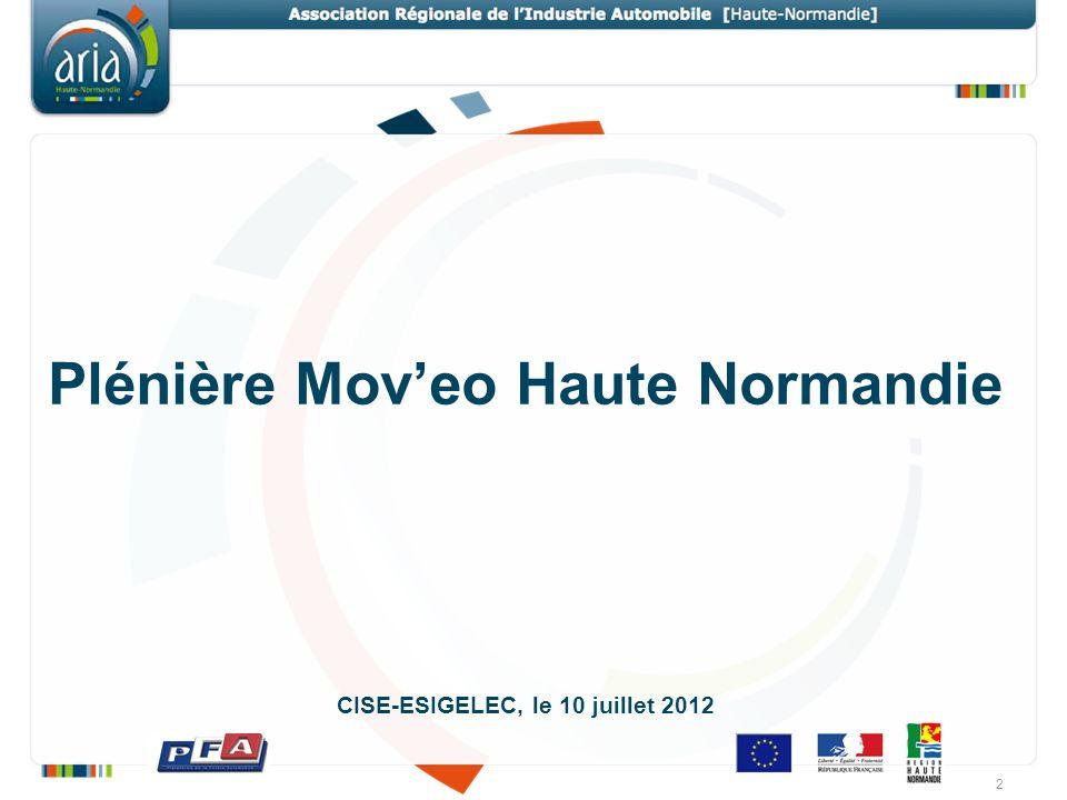 Plénière Mov'eo Haute Normandie CISE-ESIGELEC, le 10 juillet 2012